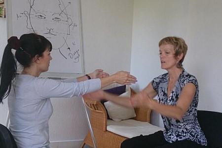 Hypnotherapeute en action